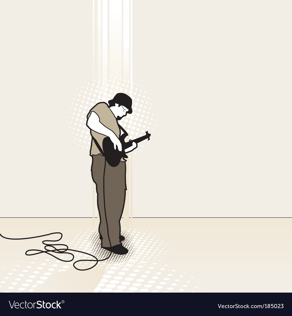 Bass player vector | Price: 1 Credit (USD $1)