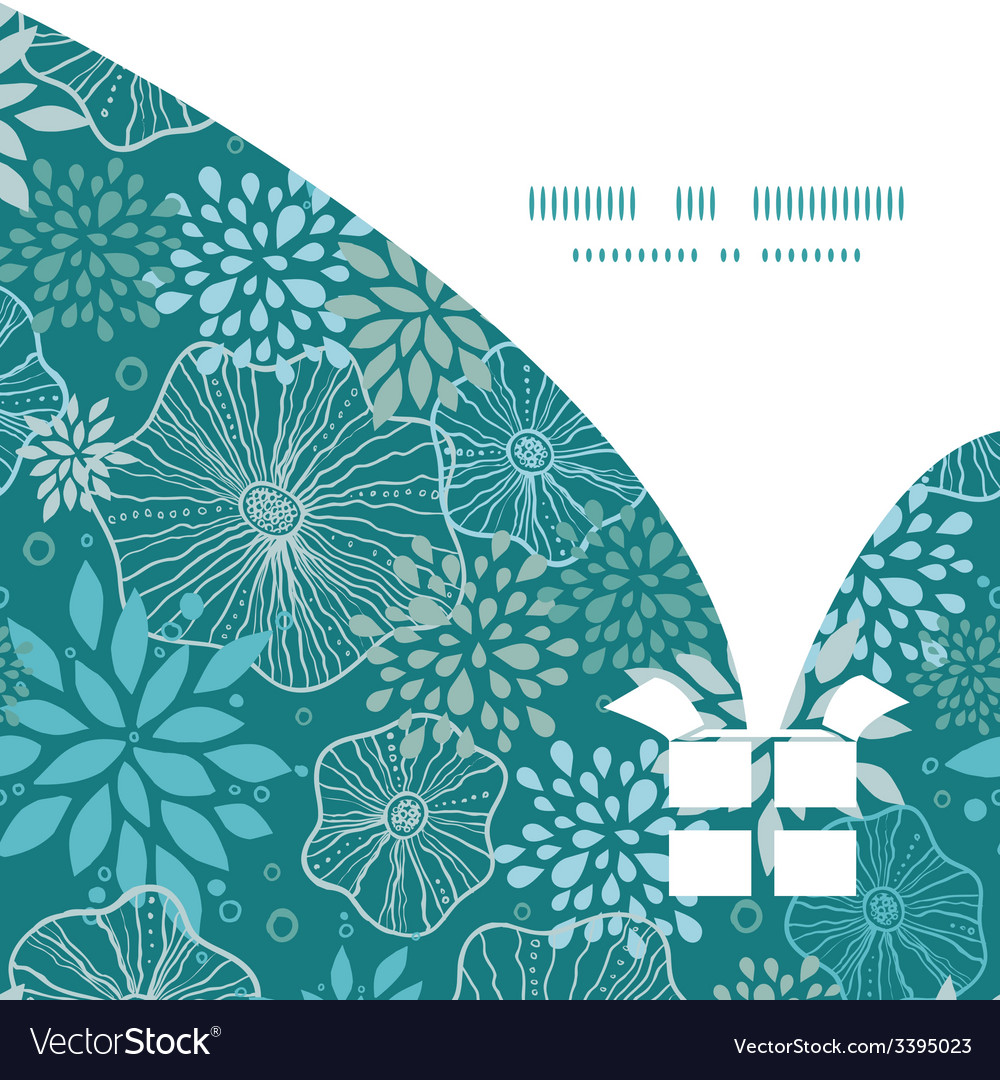 Blue and gray plants christmas gift box silhouette vector | Price: 1 Credit (USD $1)