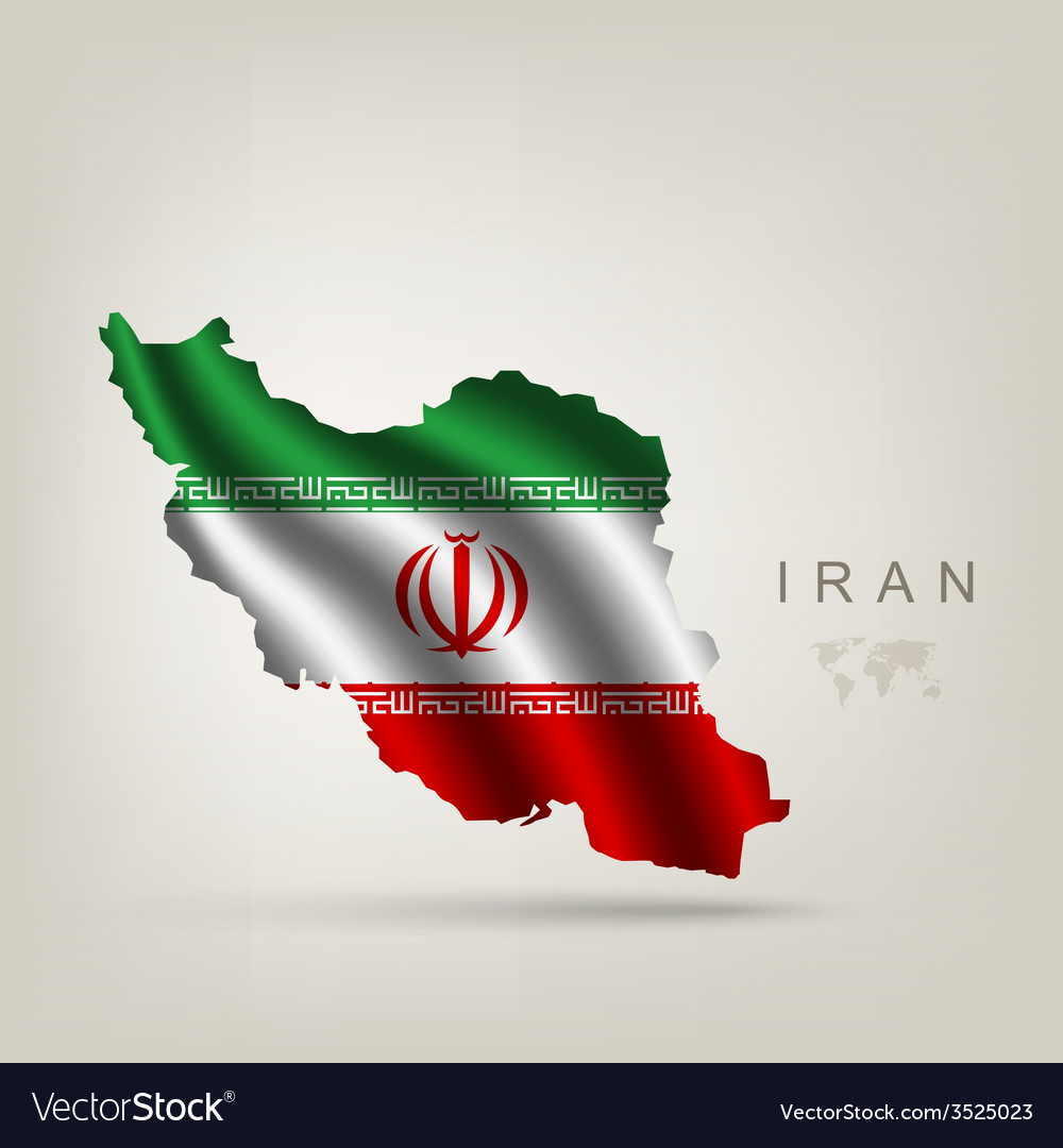 Flag of iran as a country vector | Price: 1 Credit (USD $1)