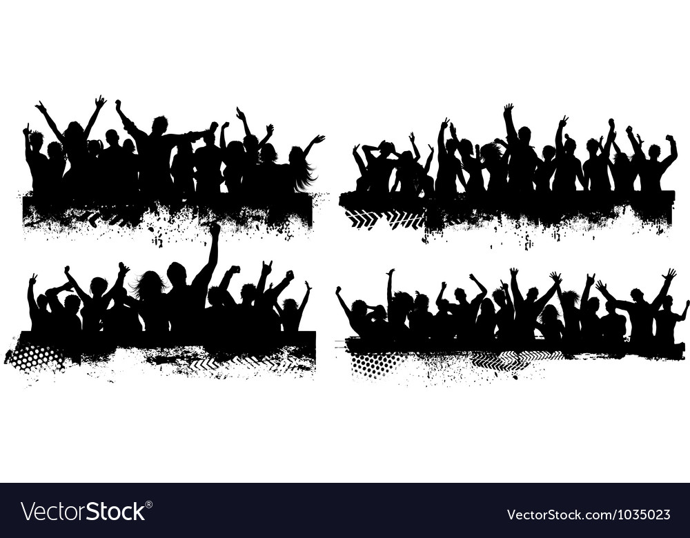 Grunge crowds vector | Price: 1 Credit (USD $1)