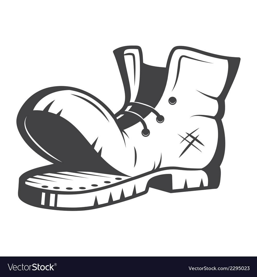 Old boot vector | Price: 1 Credit (USD $1)