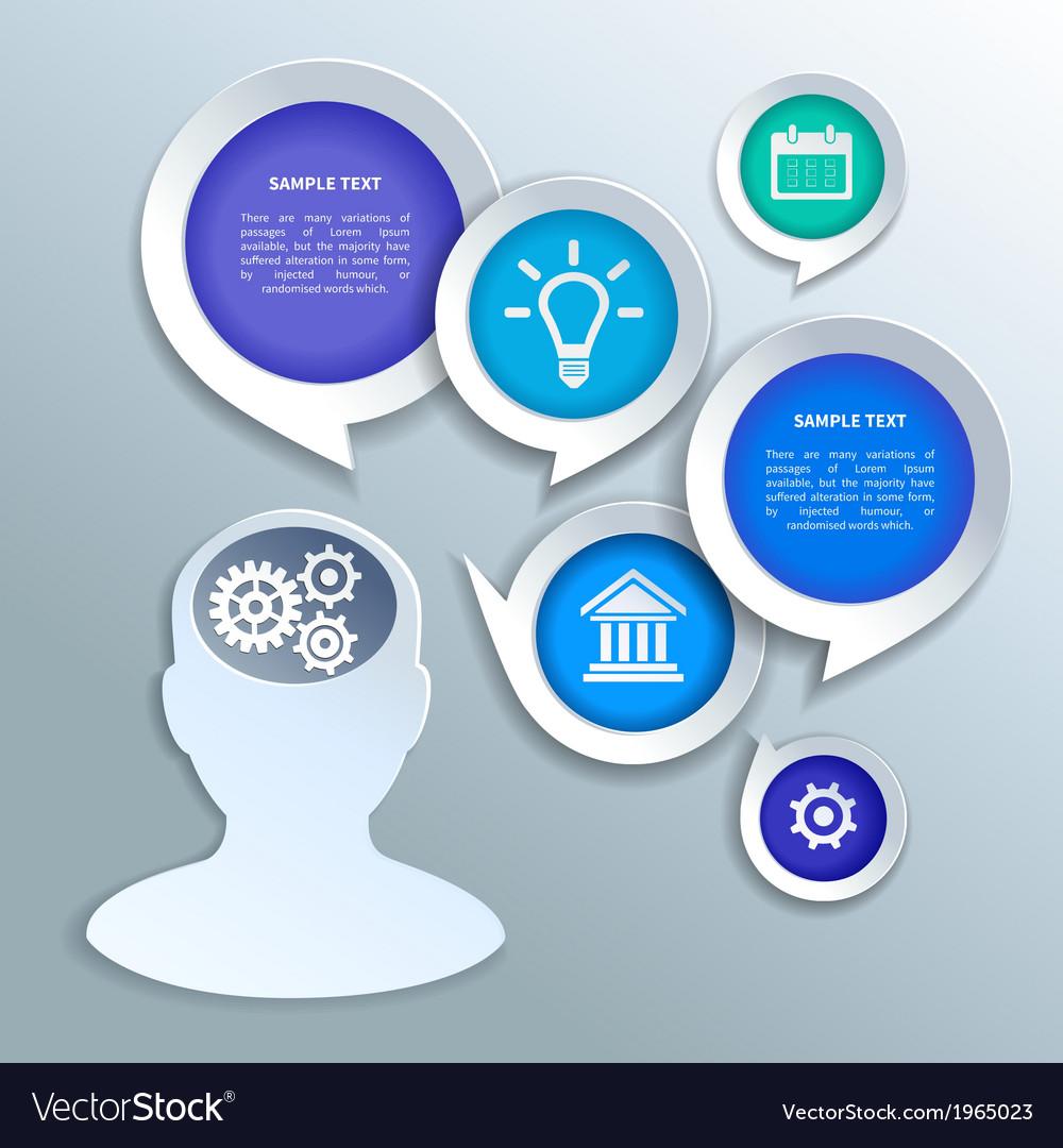 Paper business infographics design elements vector   Price: 1 Credit (USD $1)