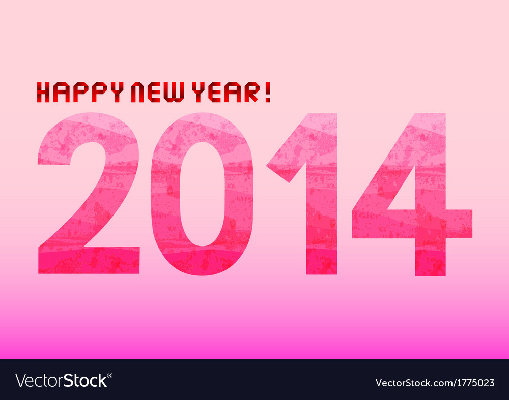 Pink shade new year 2014 vector | Price: 1 Credit (USD $1)