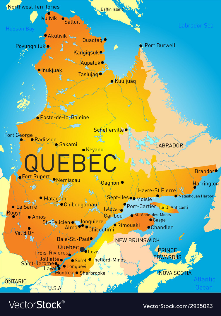 Quebec province vector | Price: 1 Credit (USD $1)