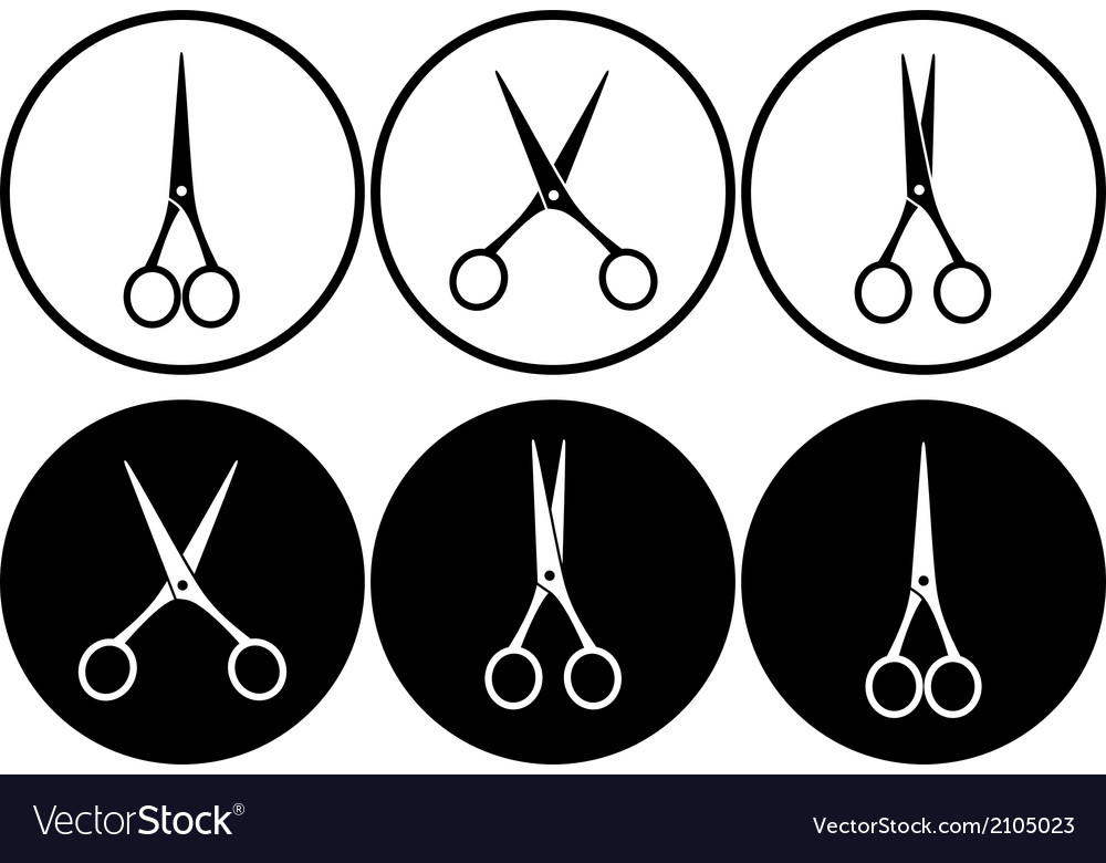 Scissors in frame vector | Price: 1 Credit (USD $1)
