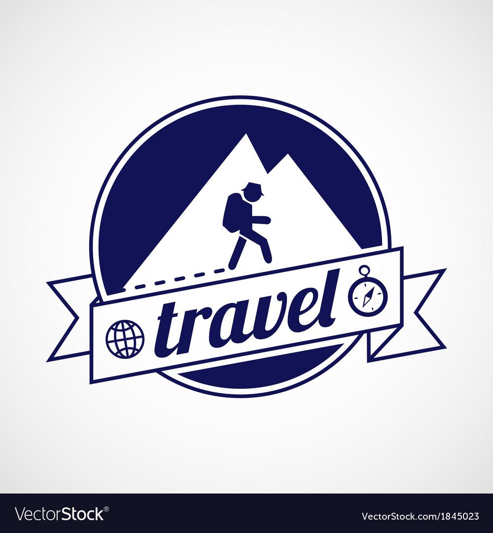 Travel label vector | Price: 1 Credit (USD $1)