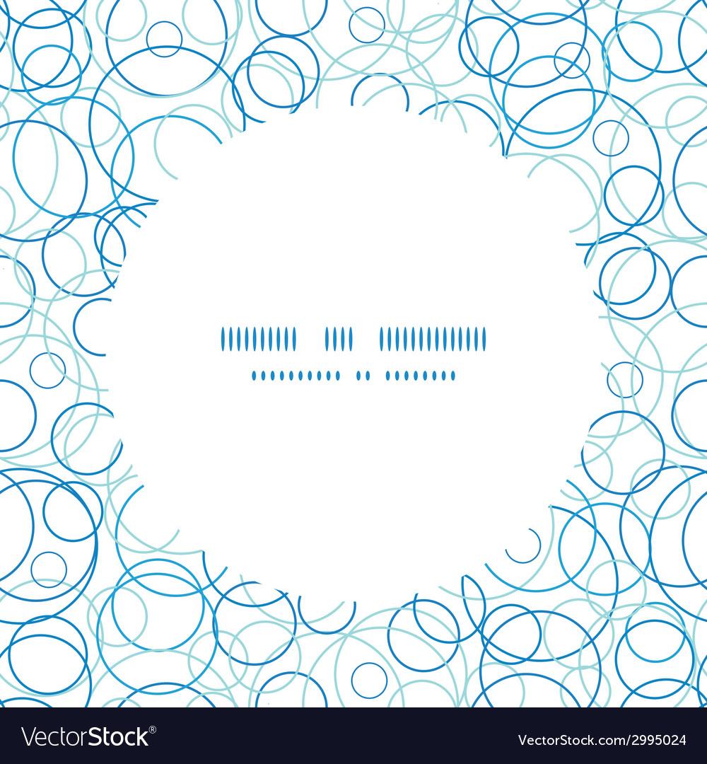 Abstract blue circles circle frame seamless vector | Price: 1 Credit (USD $1)