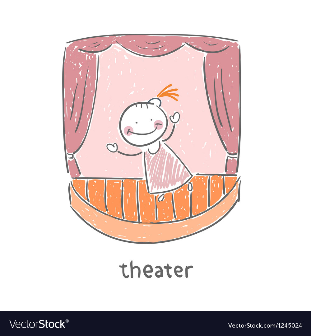 Actor in the theater vector | Price: 1 Credit (USD $1)