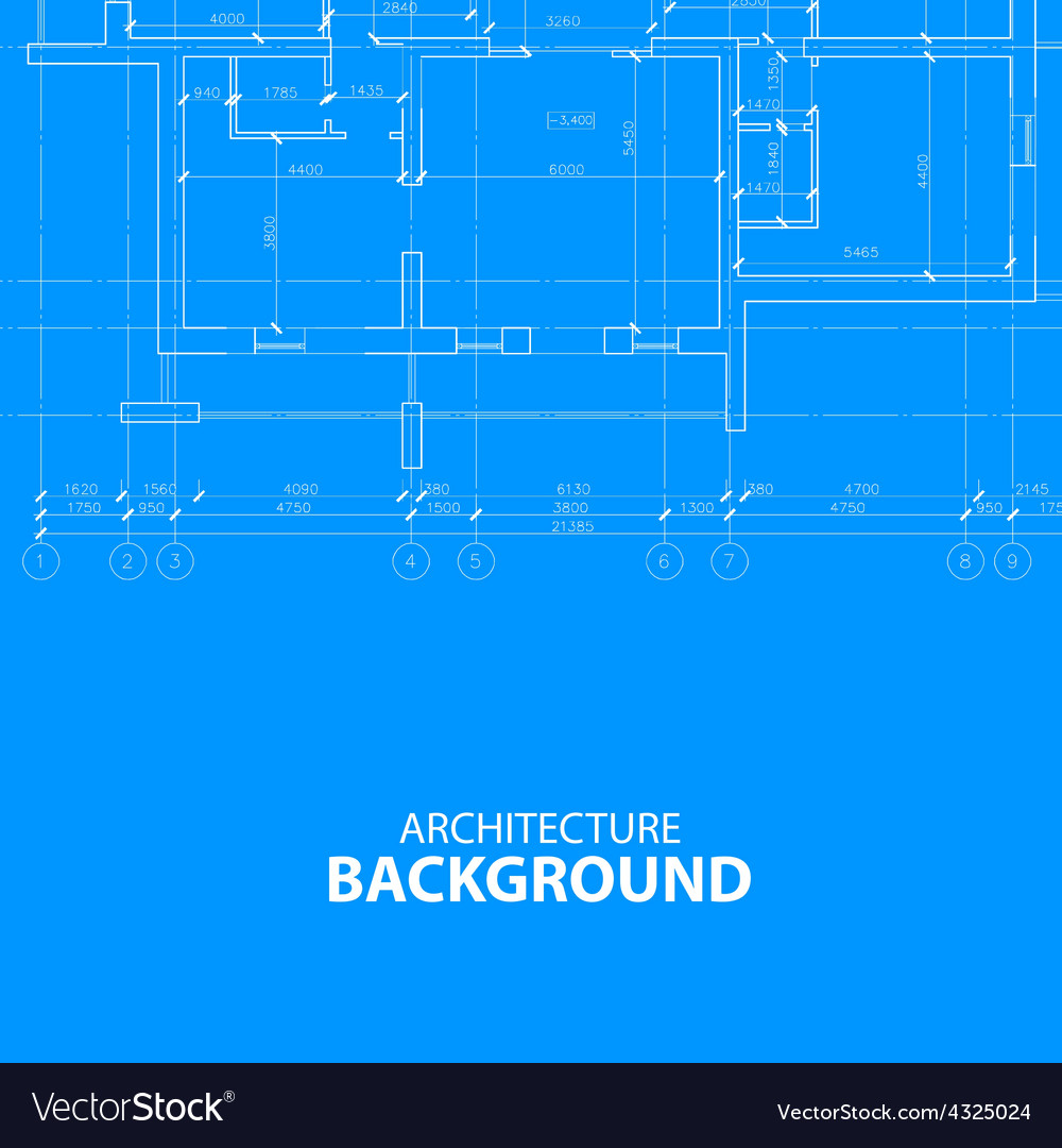 Blueprint architecture background vector | Price: 1 Credit (USD $1)