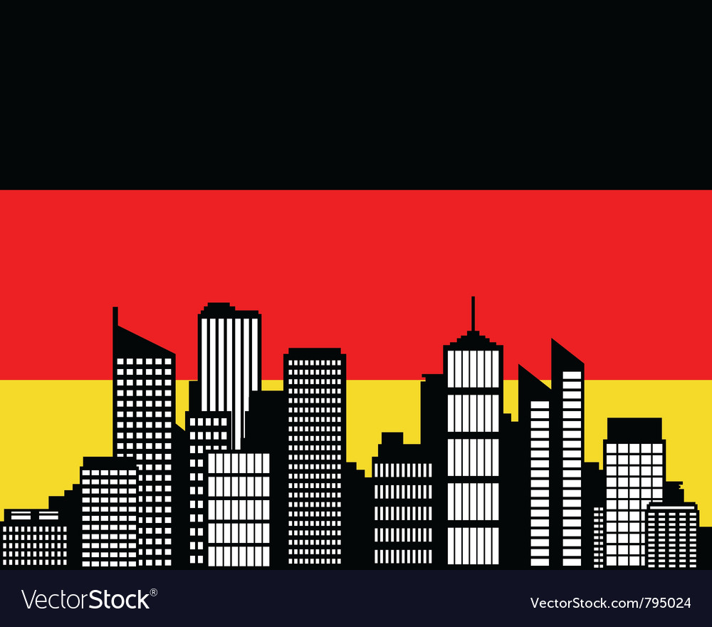 City and flag of germany vector | Price: 1 Credit (USD $1)