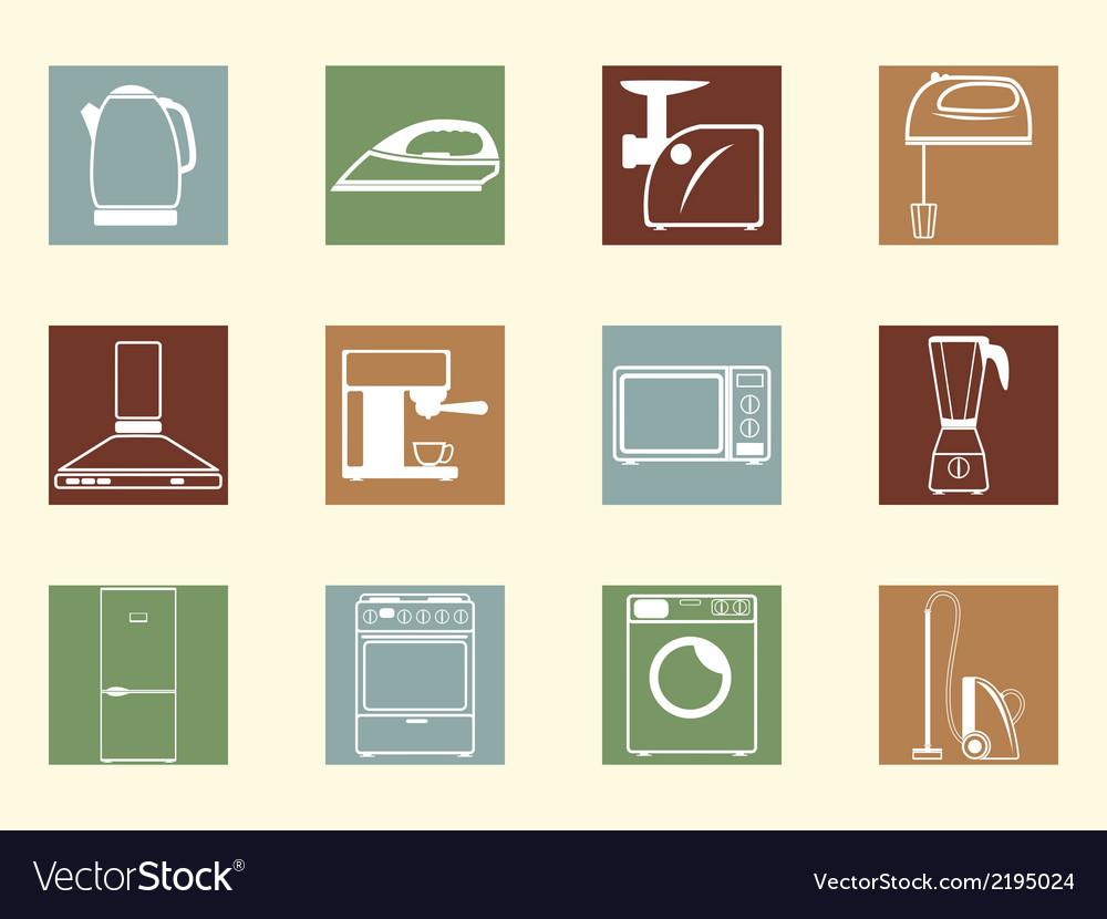 Colored retro icons vector | Price: 1 Credit (USD $1)