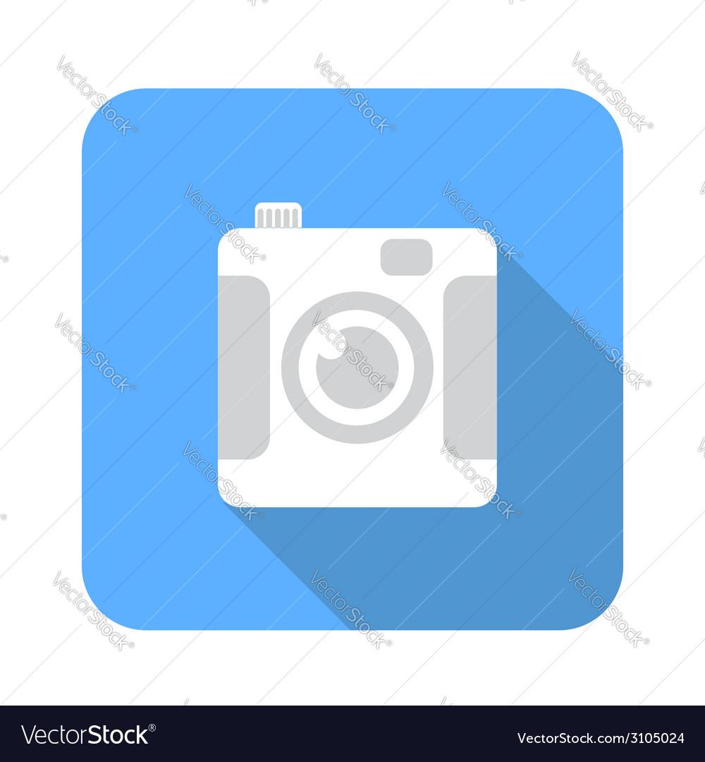 Digital camera flat icon vector | Price: 1 Credit (USD $1)