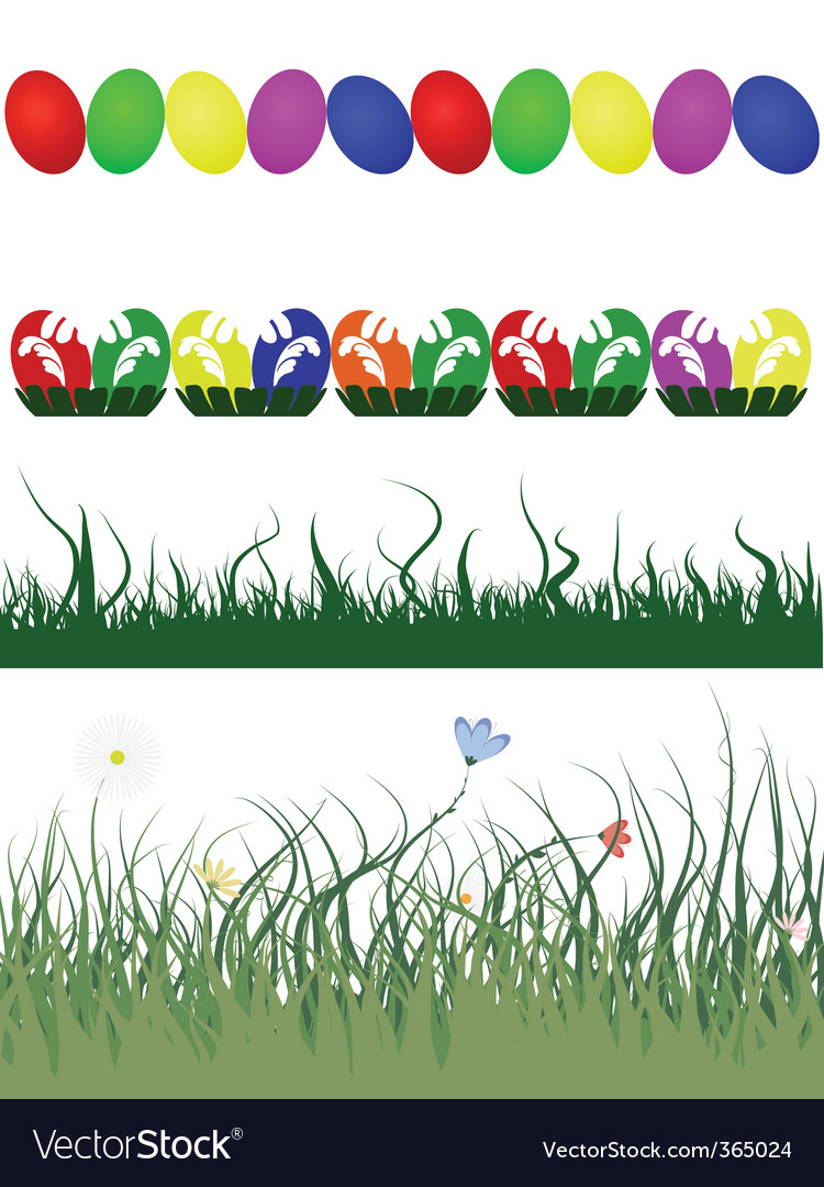 Easter decorative borders vector | Price: 1 Credit (USD $1)