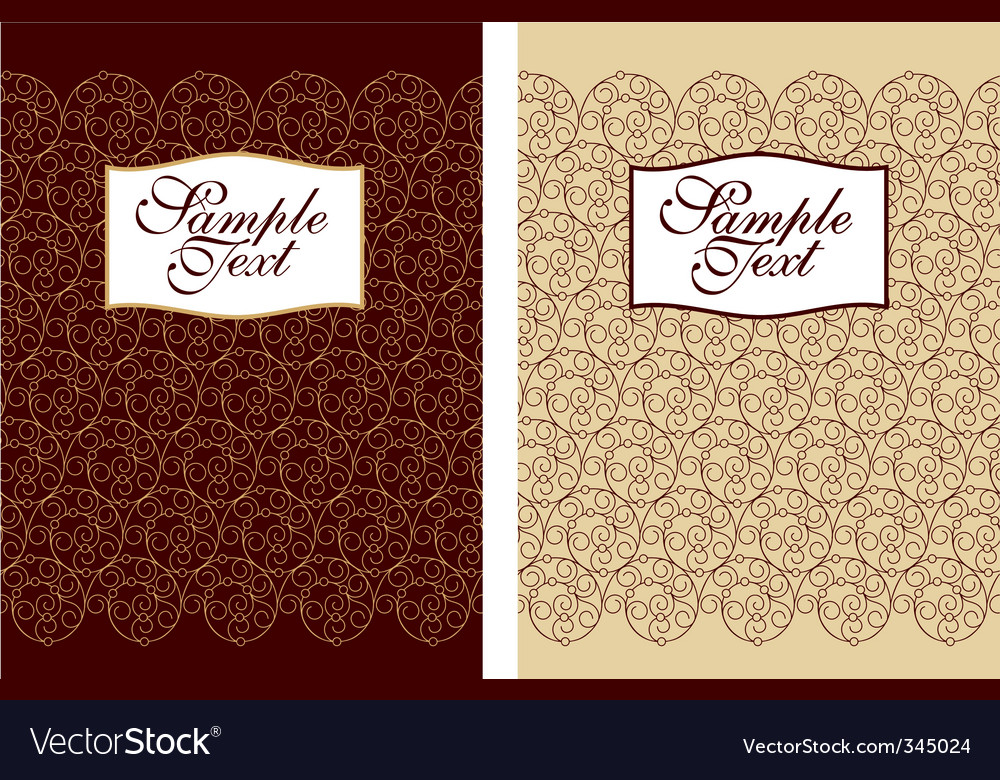 Filigree cover design vector | Price: 1 Credit (USD $1)