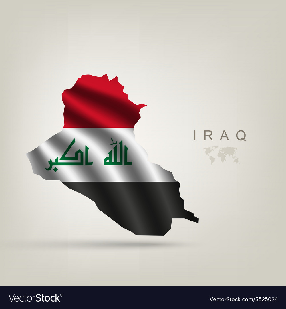Flag of iraq as a country vector | Price: 1 Credit (USD $1)