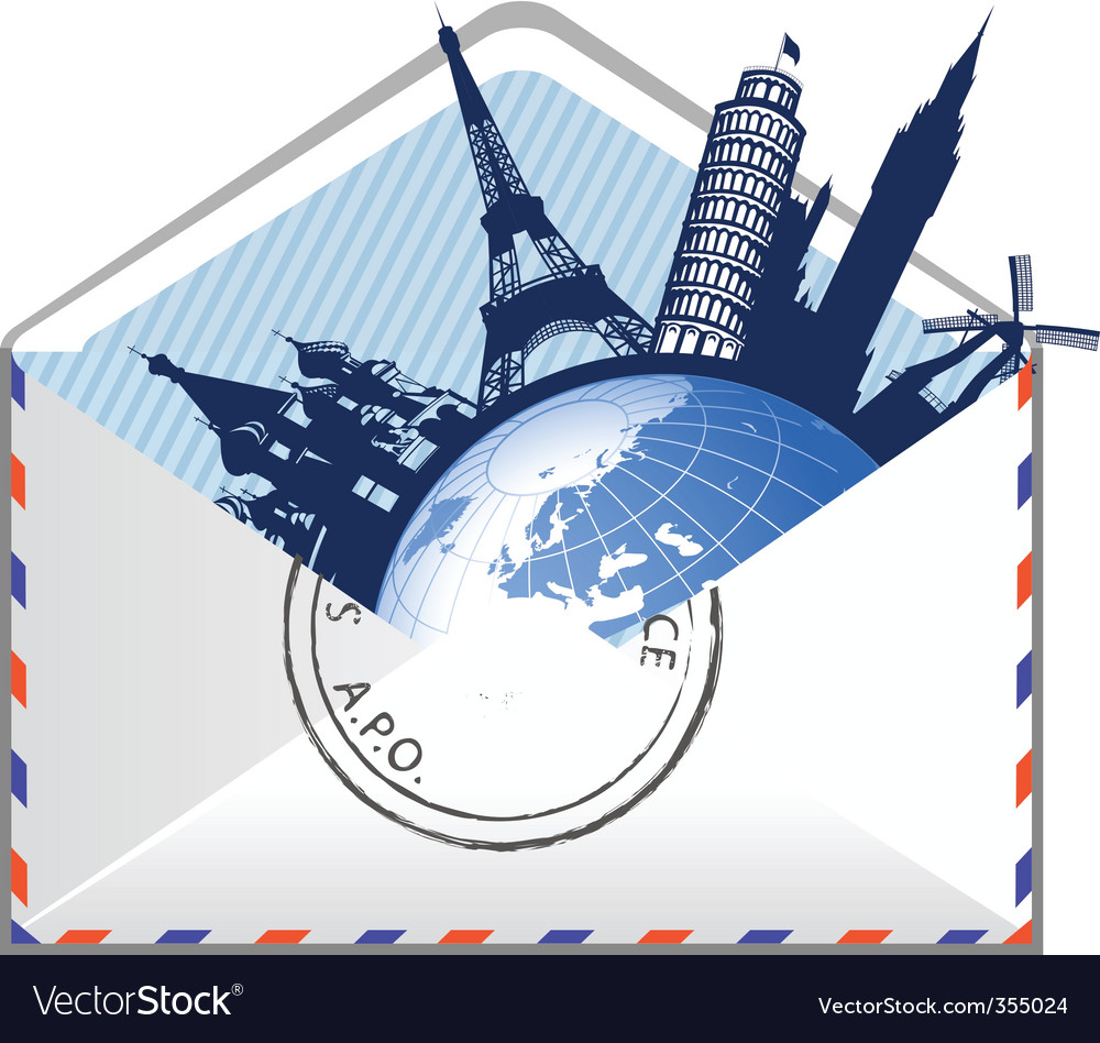Global email concept vector | Price: 1 Credit (USD $1)