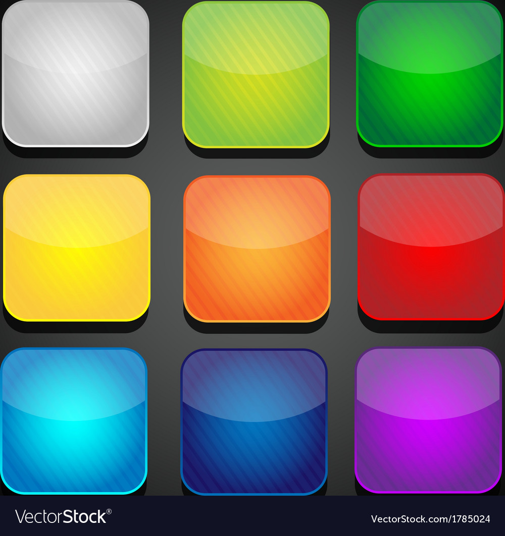 Set of color apps icons - background vector | Price: 1 Credit (USD $1)