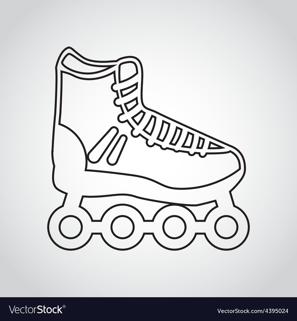 Skate icon vector | Price: 1 Credit (USD $1)