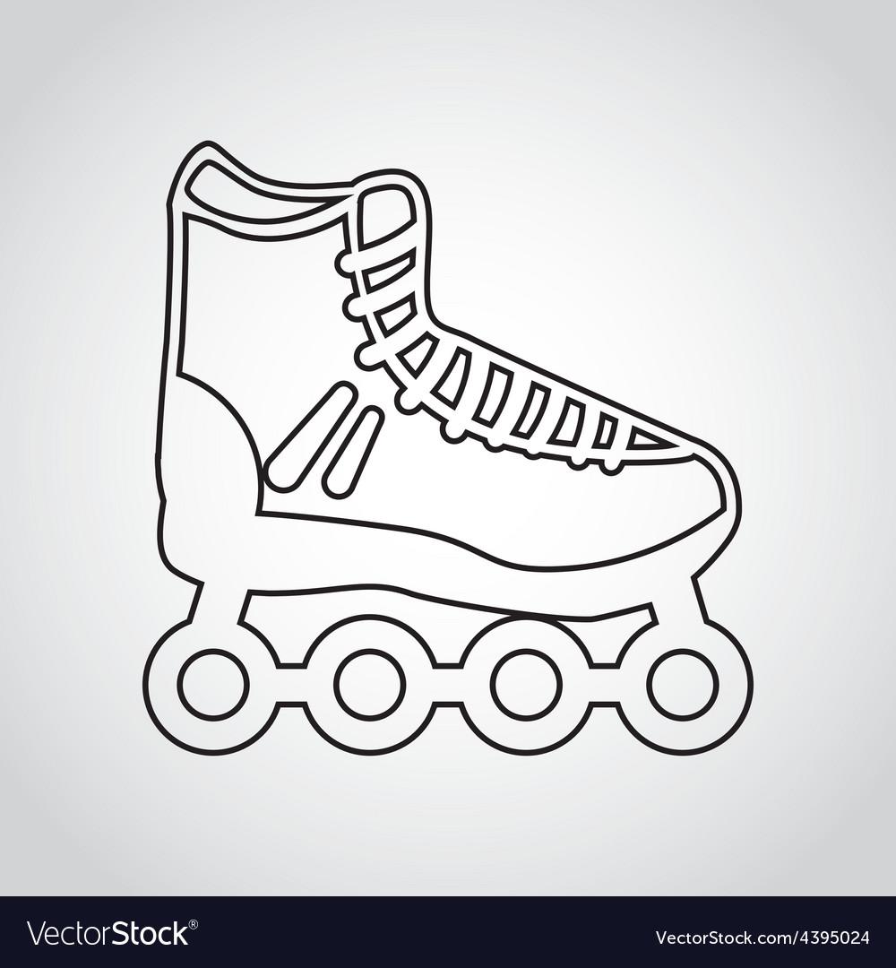Skate icon vector | Price: 1 Credit (USD $1)