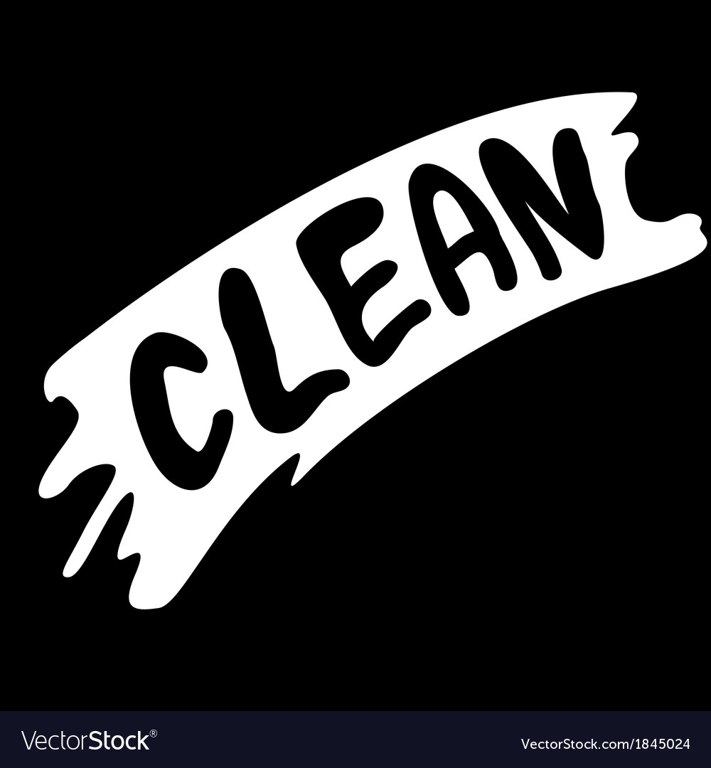 Wiped with clean vector | Price: 1 Credit (USD $1)