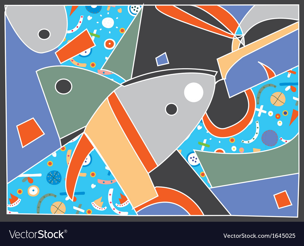 Abstract background with fish motive vector | Price: 1 Credit (USD $1)