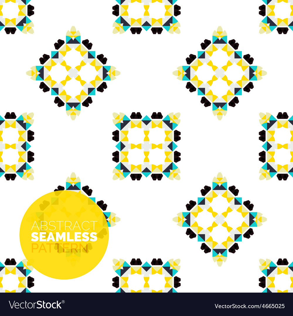 Colorful seamless geometric pattern modern vector | Price: 1 Credit (USD $1)
