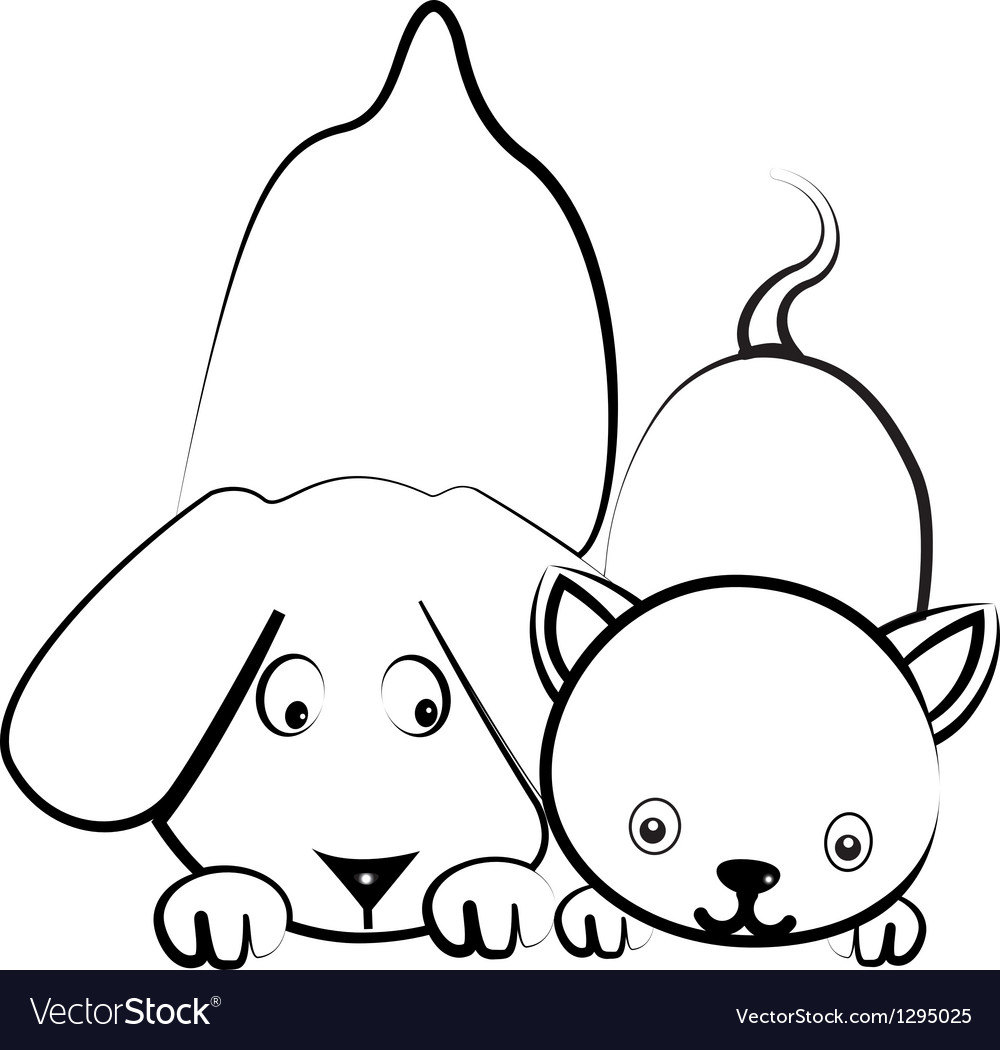 Dog and cat logo vector | Price: 1 Credit (USD $1)