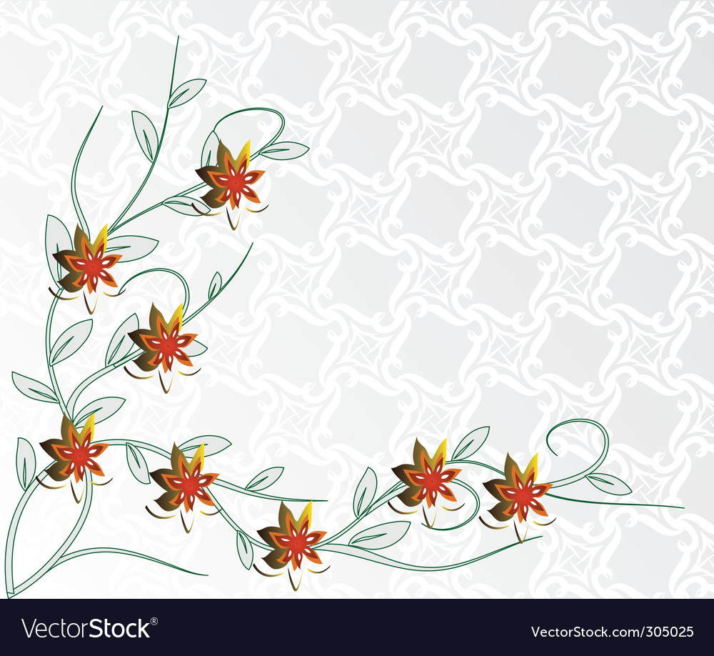 Light background with red flowers vector | Price: 1 Credit (USD $1)
