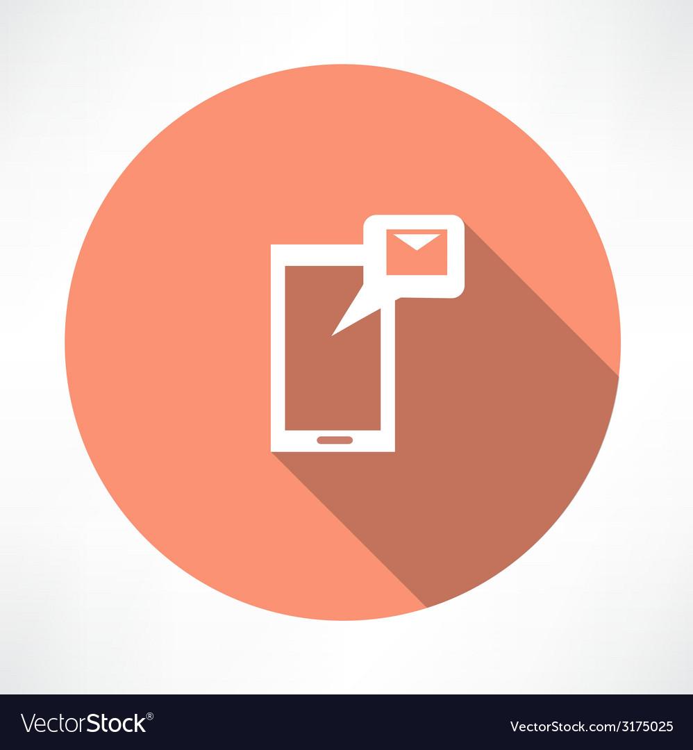 Message icon vector | Price: 1 Credit (USD $1)