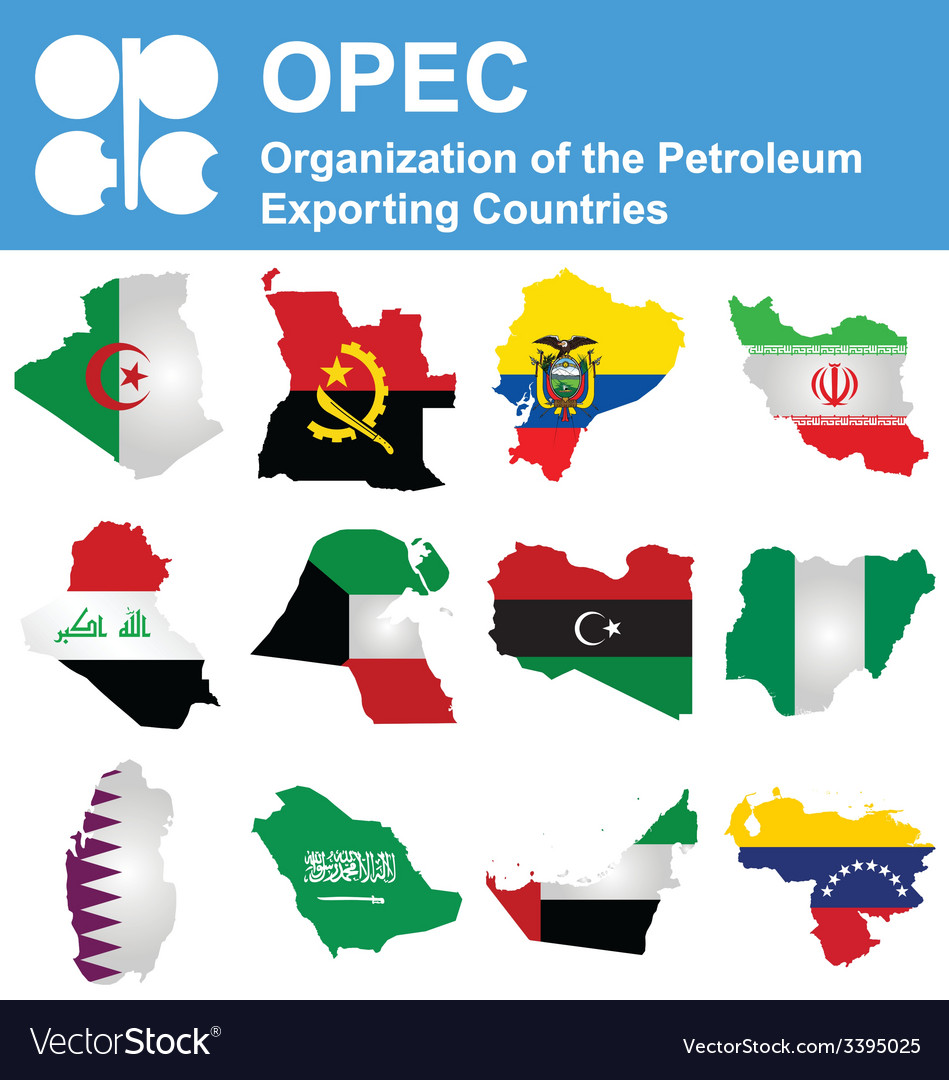 Opec countries vector | Price: 1 Credit (USD $1)