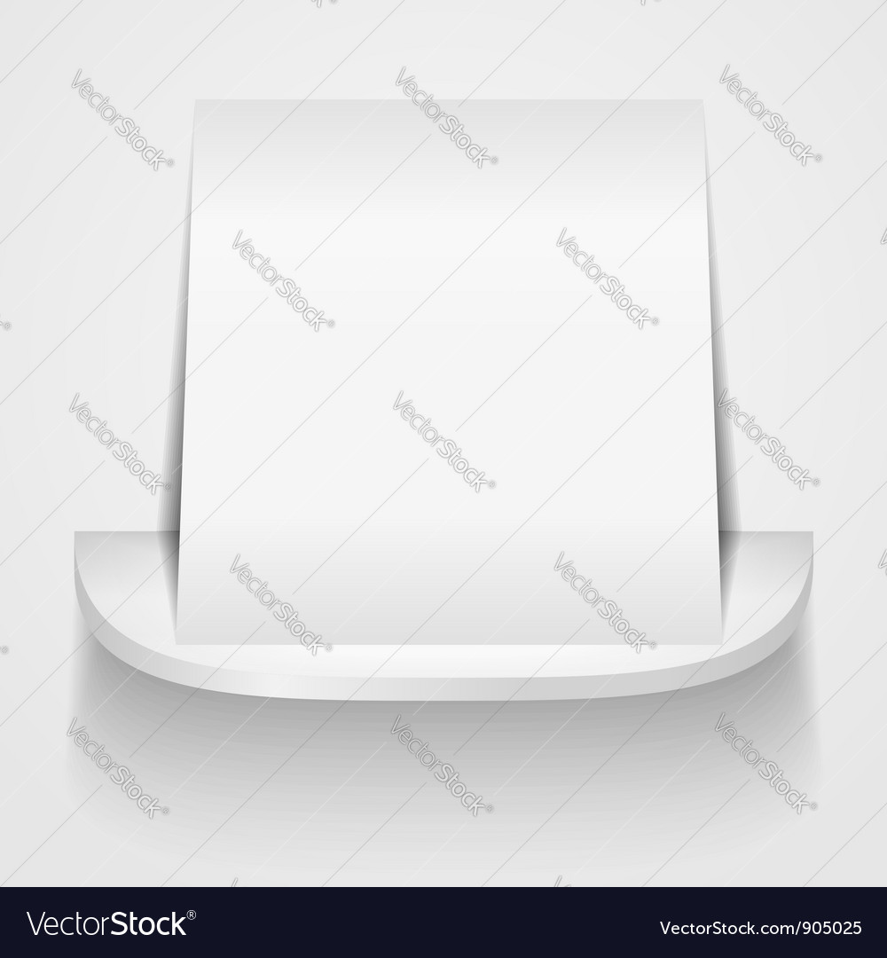Paper on round shelf vector | Price: 1 Credit (USD $1)
