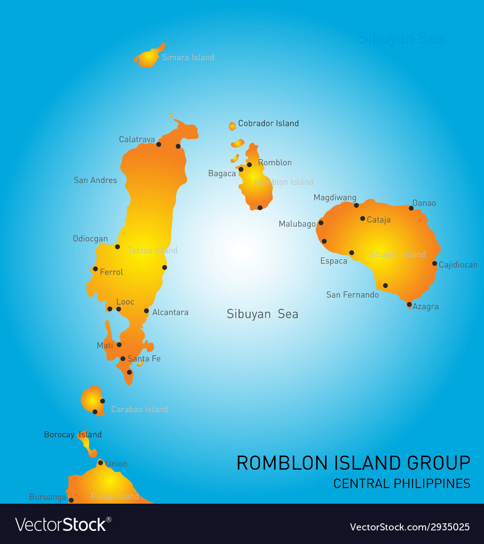 Romblon island group vector | Price: 1 Credit (USD $1)