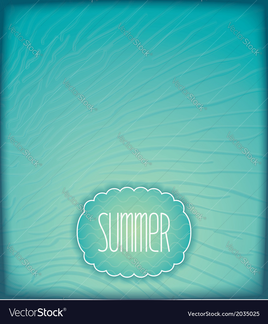Summer sea background with waves vector | Price: 1 Credit (USD $1)