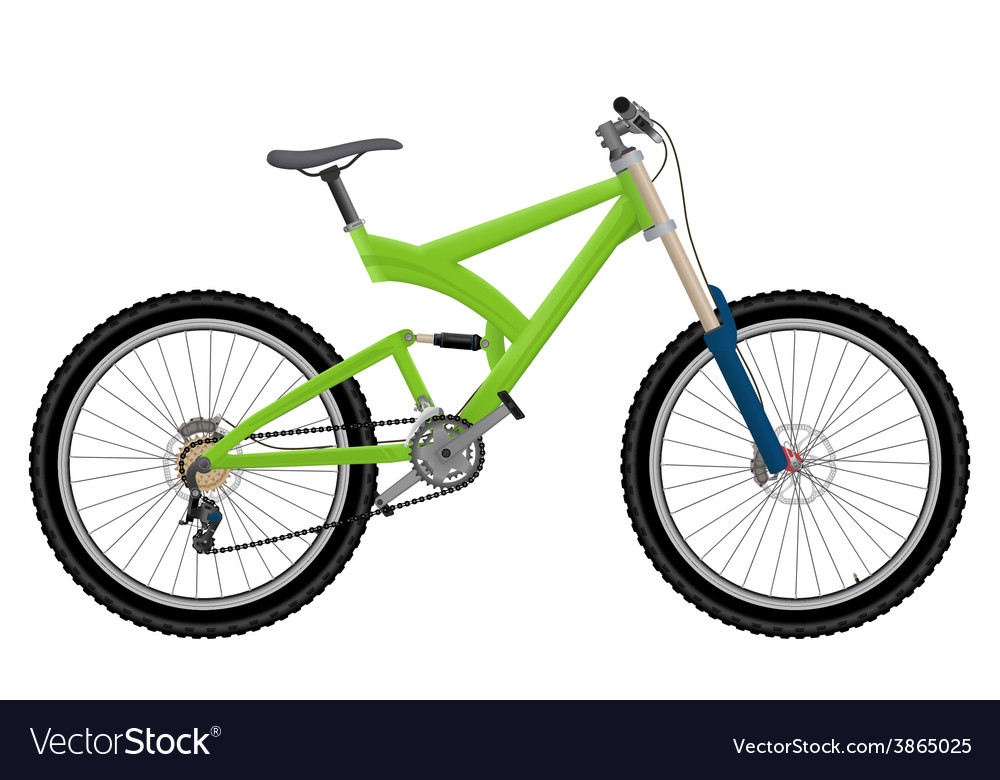 Two suspension mountain bike vector | Price: 1 Credit (USD $1)