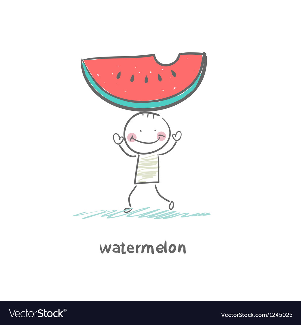 Watermelon and people vector | Price: 1 Credit (USD $1)