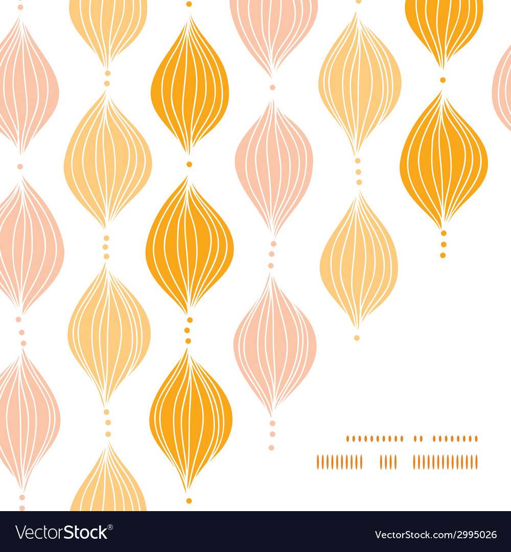 Abstract golden ogee frame corner pattern vector | Price: 1 Credit (USD $1)