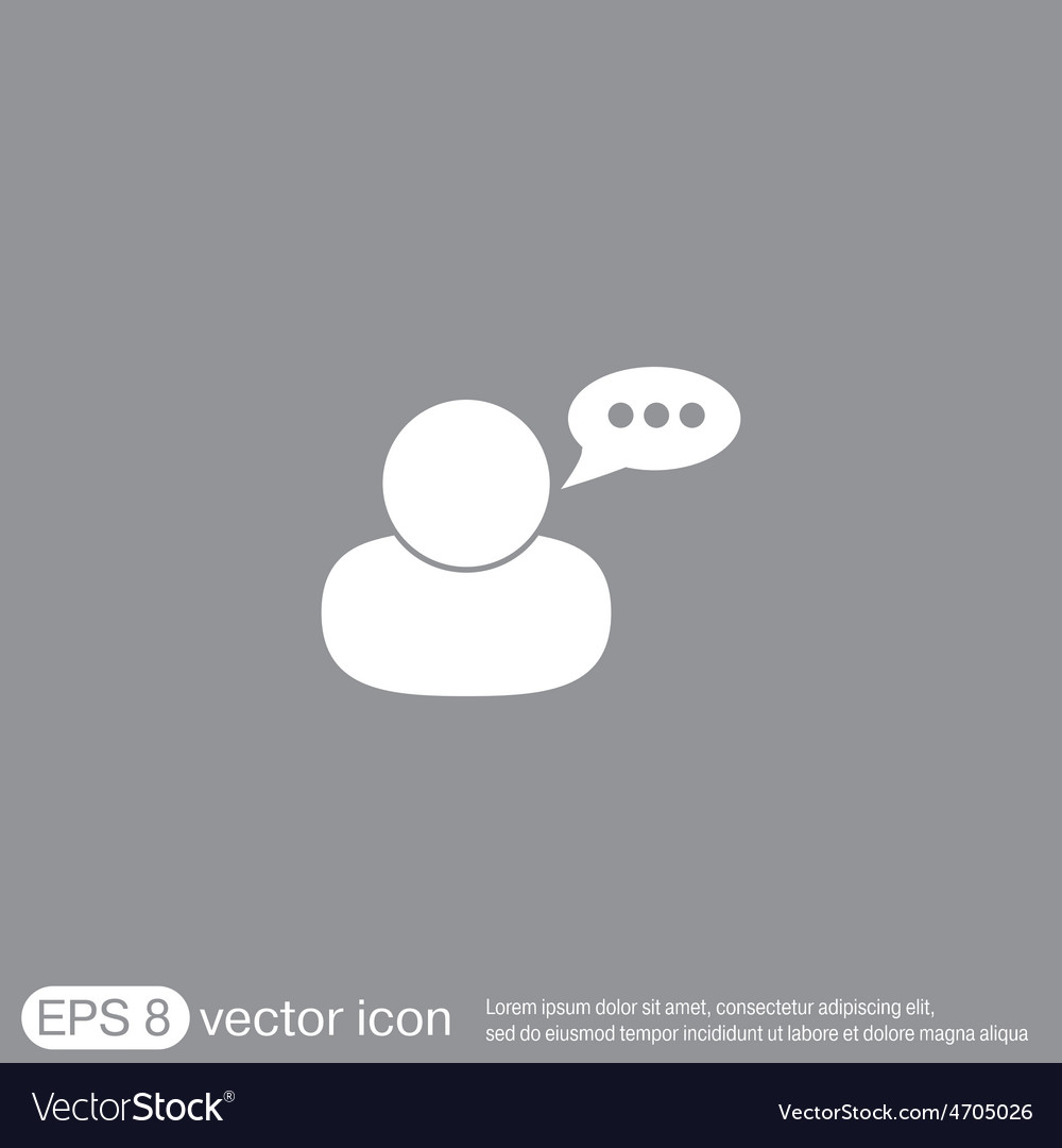 Character avatar dialogue vector | Price: 1 Credit (USD $1)