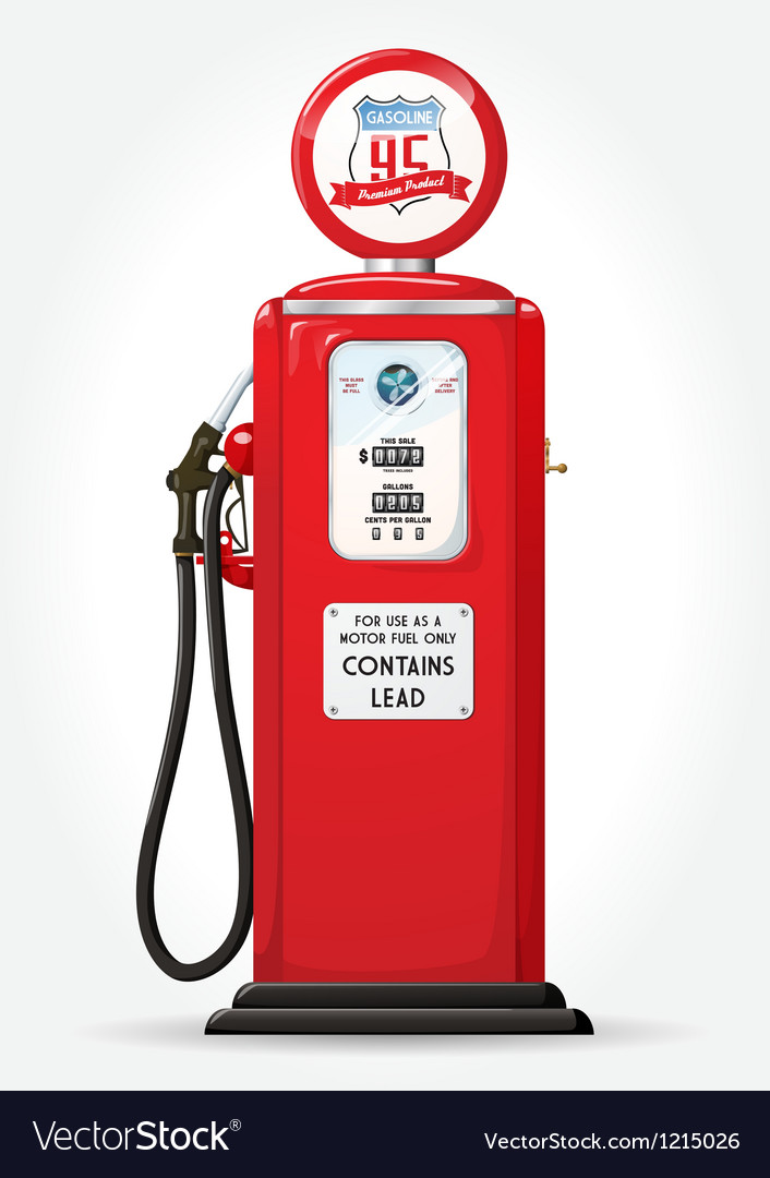 Gas pump retro vector | Price: 1 Credit (USD $1)