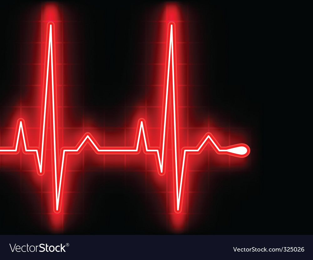 Heart beat ekg vector | Price: 1 Credit (USD $1)