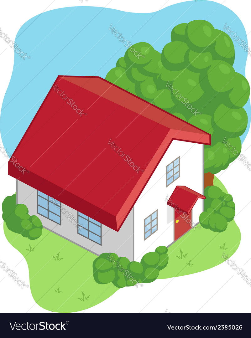 Isometric cartoon house vector | Price: 1 Credit (USD $1)