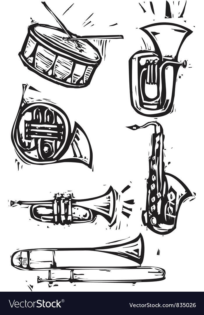 Musical instrument set vector | Price: 1 Credit (USD $1)