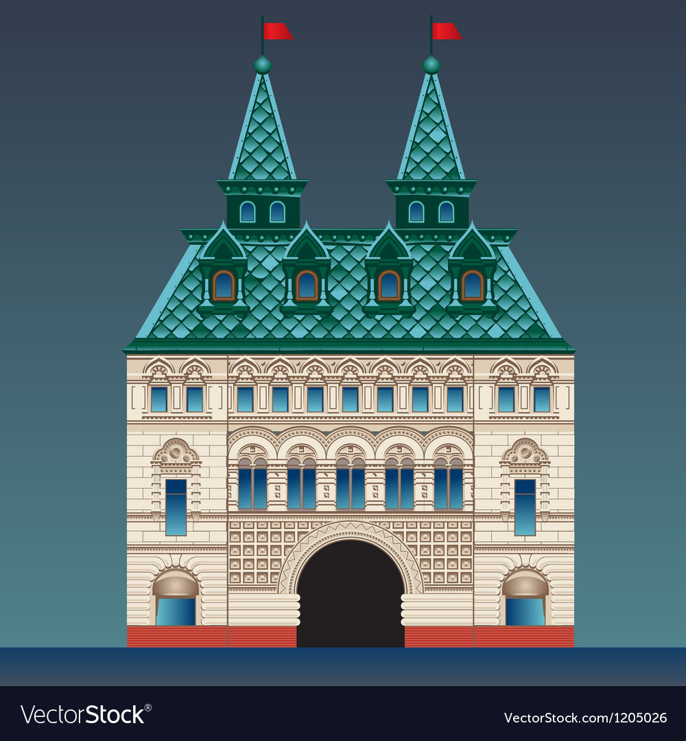 Russian style house vector | Price: 3 Credit (USD $3)