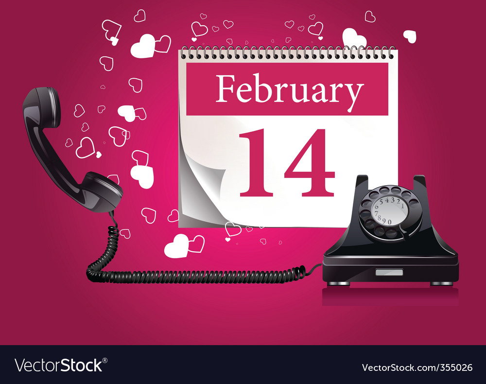 Valentine's phone vector | Price: 1 Credit (USD $1)