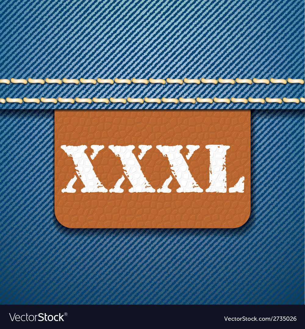 Xxxl size clothing label - vector | Price: 1 Credit (USD $1)