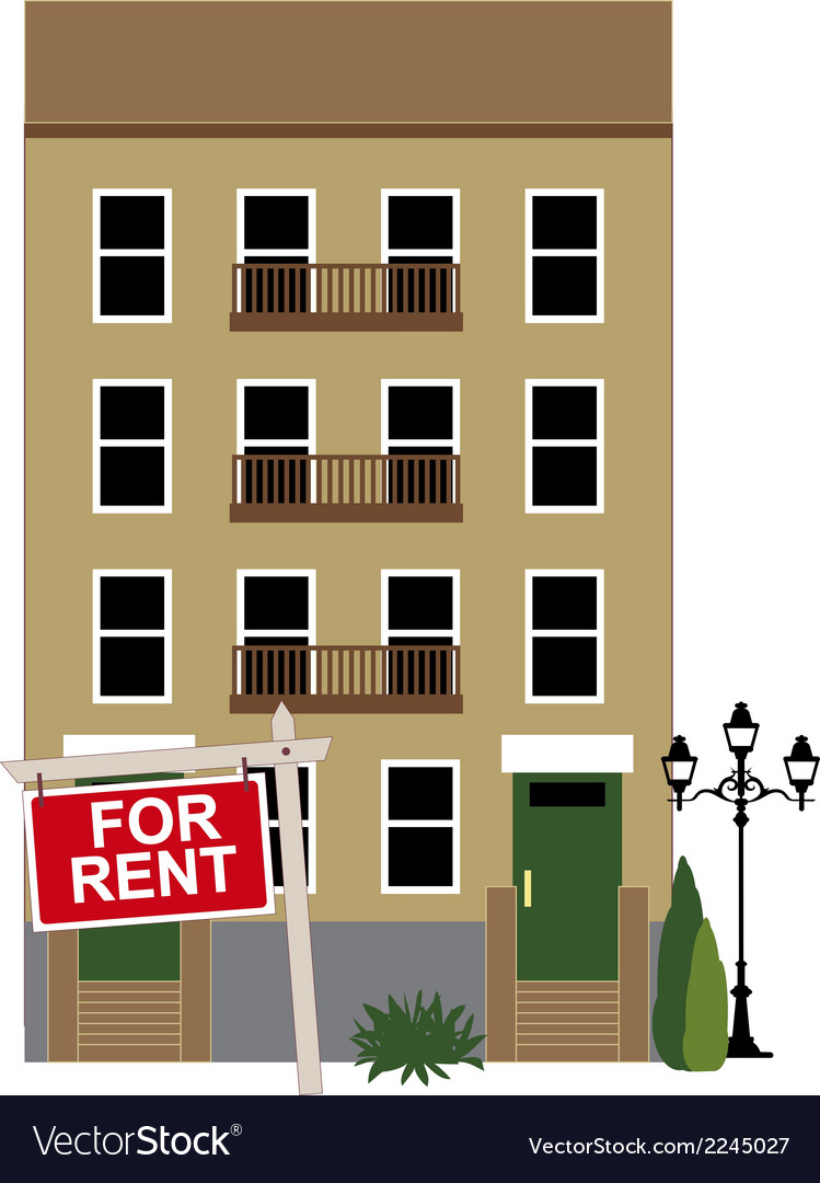 Apartment for rent vector | Price: 1 Credit (USD $1)