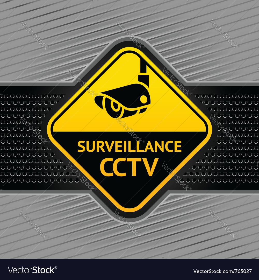 Cctv surveillance symbol vector | Price: 1 Credit (USD $1)