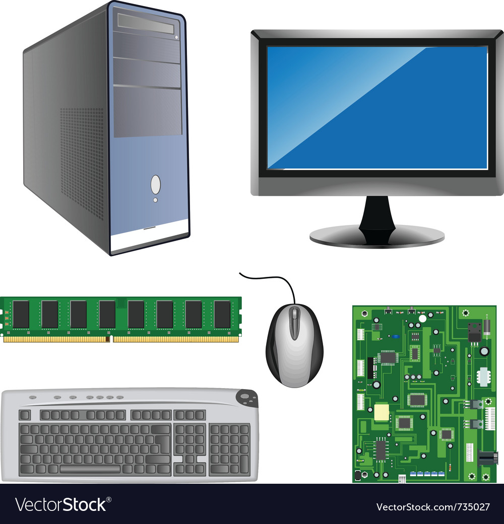 Computer parts vector | Price: 3 Credit (USD $3)