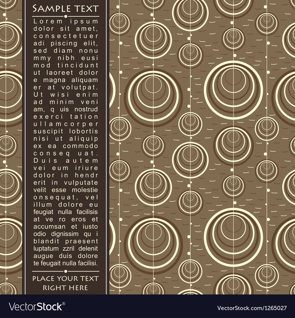 Decorative card with circles vector | Price: 1 Credit (USD $1)