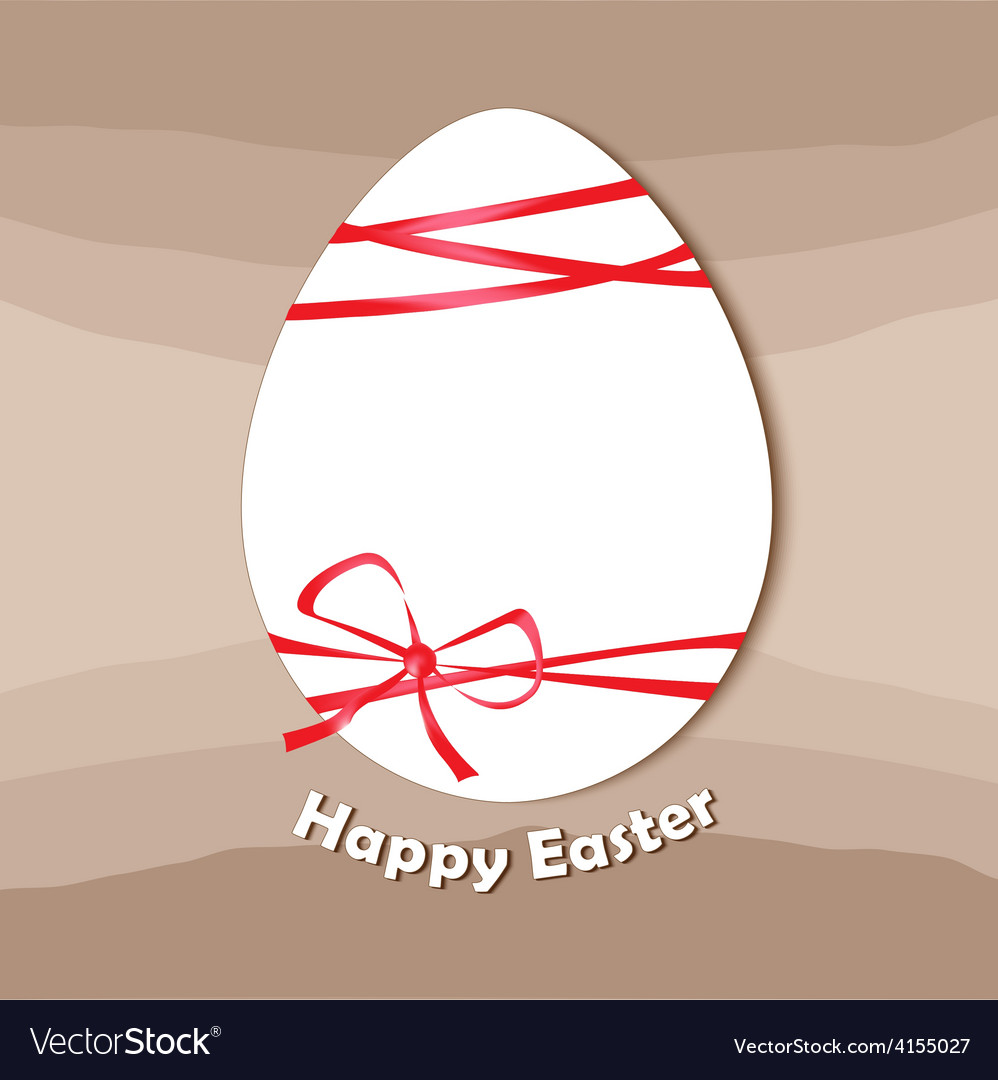 Easter egg happy easter card vector | Price: 1 Credit (USD $1)
