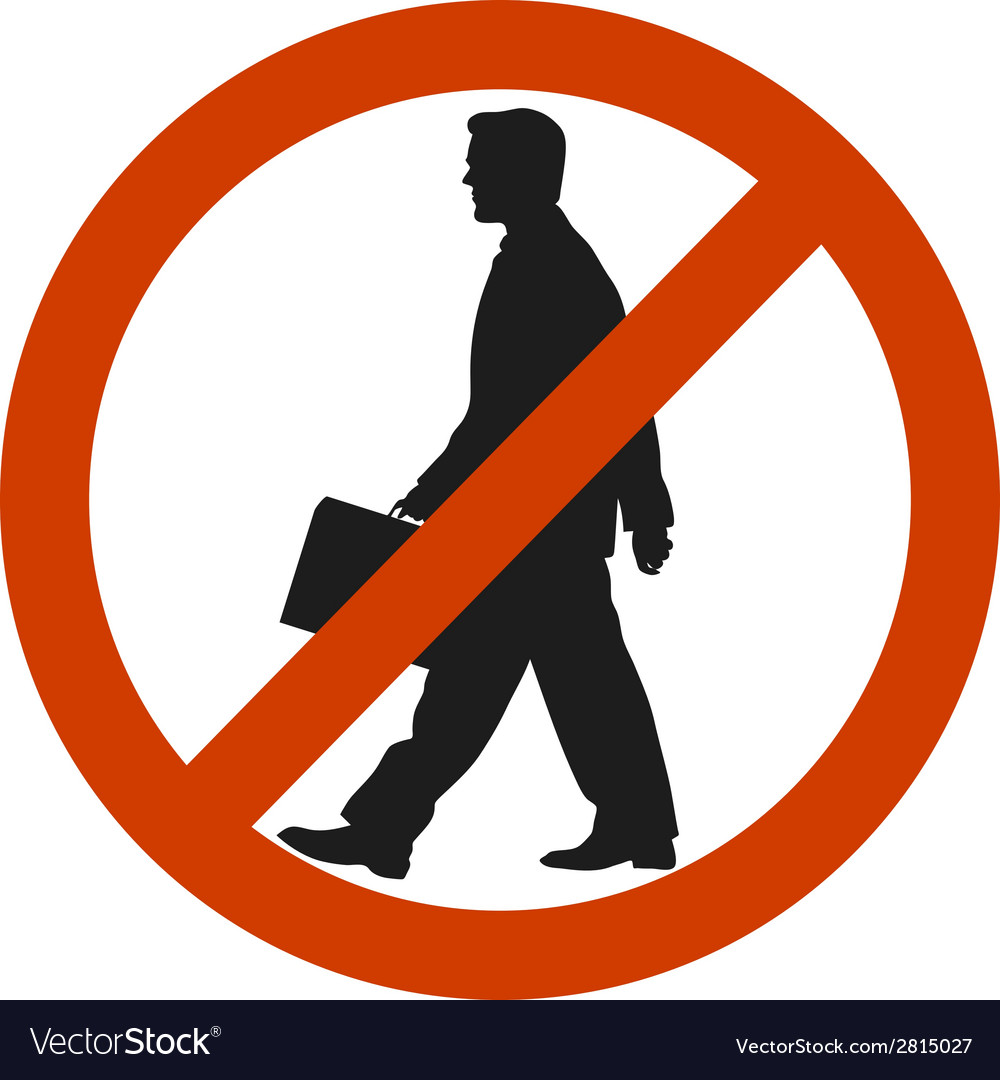 Entrance and access is denied to men sign symbol vector | Price: 1 Credit (USD $1)